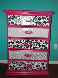 Mod Podge Dresser