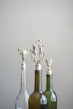 Basketball - Vintage Trophy Cork Wine Bottle Stopper