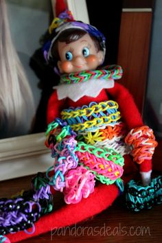Elf on the Shelf: Tootsie gets wrapped up in the Rainbow Loom craze! See more here: http://pandorasdeals.com/elf-shelf-tootsie-today-112913/