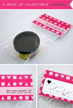 """Better Shape Up"" Playdough Valentine (boy valentine's)"