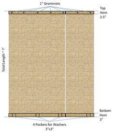 Great DIY tutorial for burlap curtains