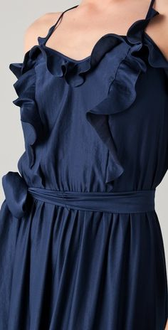 this is the perfect navy dress navy/fuschia/gold color scheme