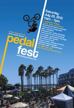 Postcard by Elke Barter Design for Jack London Square's Pedalfest