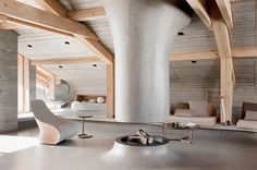 Sexy ski lodge in the French Alps