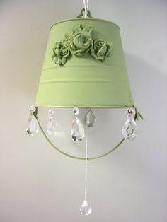 Recaptured Charm: DIY::Bucket Lamp