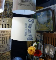 vintage flour sack shades made by us- Light Reading