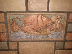 Batchelder tile close-up