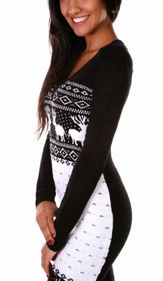 Blacka and white long sweater