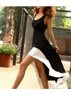 Hi lo Maxi Dress - Black @idadress
