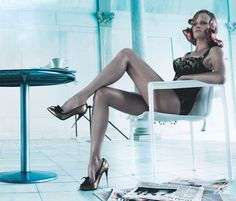 13 killer heels from the Vogue Archive that slay us.   Lara Stone shot by Steven Klein, Vogue, June 2011