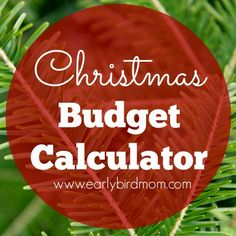Head on over to Early Bird Mom and check out her free Interactive Christmas Budget Calculator.