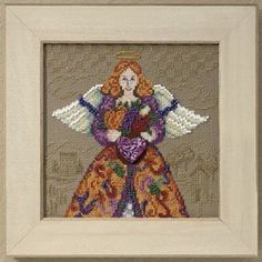 Fall Angel - Cross Stitch Kit  Completed