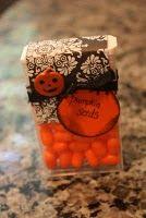 pumpkin seeds (tic tacs), cute!