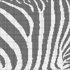 Zebra print Cross Stitch by jacqueline | weelittlestitches, via Flickr