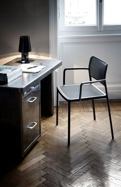 desk and chair. love this floor window light home decor interior