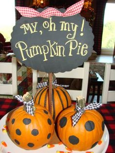 cute seasonal idea with my sign on kitchen table