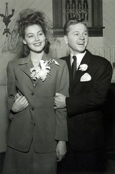 Ava Gardner and Mickey Rooney on their wedding day