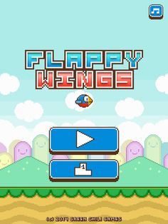 Flappy Wings - FREE App by Green Chili Games UG. Flying, retro, side scroller app.
