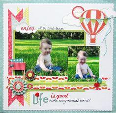 life is good scrapbook layouts, life, scrapbook photo, scrapbook page layouts, card, scrapbook pages, kid summer, banners