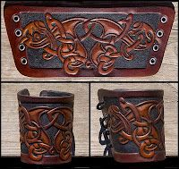 Norse leather work