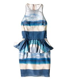 Peplum and blue tones