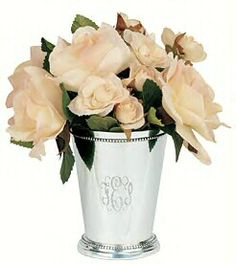 engraved mint julep cups