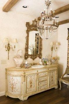 mirror, crystal chandeliers, bathroom vanities, sink, beam, master baths, bathroom decor, powder rooms, bath design