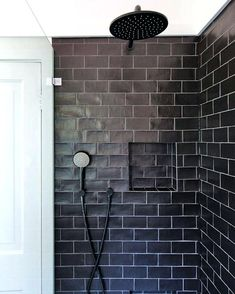 black subway tile for powder room matte kitchen ideas