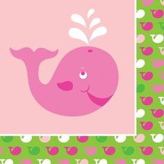 Girl themed whale baby showerA beautiful new baby shower theme for little girls, our Ocean Preppy Girl party supplies have arrived!  Featuring friendly pink whale and octopus characters, an argyle pattern, and baby-friendly shades of pink and green, these are going to be very popular decorations!Besides all of the usual tableware, this pattern also features unique decorations like a semi-customizable giant party banner, cupcake wrappers, and cone-shaped favor bags!Ocean Preppy pink decoration...