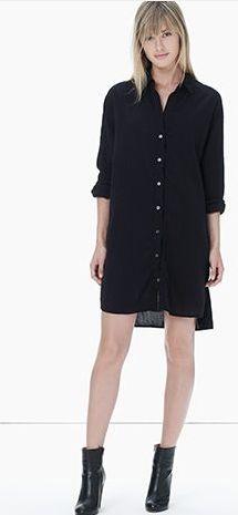 Gauze Cotton Shirt Dress
