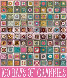 100 days of crochet granny squares