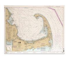 NOAA Chart Cape Cod Bay - Boston Interiors