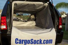 Cargo Sock, Cargosock, SUV liner, liners, compact, standard, full size, rear cargo area, mats, protection, SUV interior protection, sport utility, car, custom cargo liners, universal sizes, floor guard, long-lasting SUB protection.