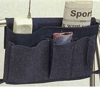 wheel chair arm pouch