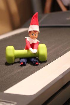 Getting an Elf workout #elfontheshelf