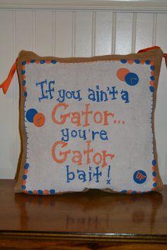 University of Flordia Gator Bait hanging. $24.00, via Etsy.