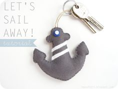 Tutorial with pattern sail keychain
