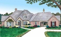 Houses i like on pinterest 45 pins - French country house plans with porte cochere ...