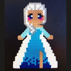 Elsa - Frozen perler beads by anorts