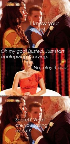What are you saying about? #katniss #presidentsnow #hungergames #meangirls