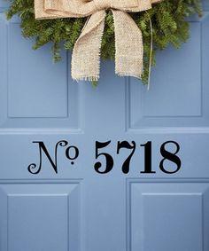 So cute! designdecor, dream, eleg, entryfoy, decals, door, front, entryway, black