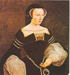 Claude de France: fille du roi Louis XII et de la duchesse Anne de Bretagne, elle gagne son prénom en hommage à saint Claude que sa mère avait invoqué lors d'un pélerinage afin qu'elle puisse donner le jour à un enfant viable. Cependant si elle peut succéder sur le trône de Bretagne, elle ne peut comme fille succéder à son père sur le trône de France. de fait de la loi salique.