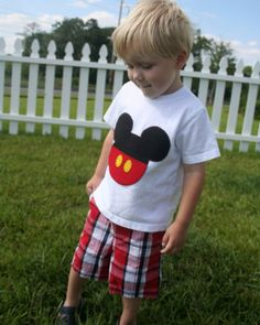 Mickey Mouse Applique Shirt