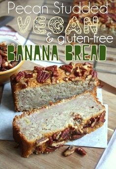 Pecan Studded #Vegan & #GlutenFree Banana Bread