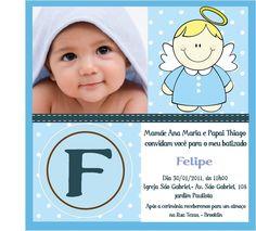 Convites de batizado: ideias incríveis!!! - Mil dicas de mãe : Mil dicas de mãe (Beautiful christening invitations)