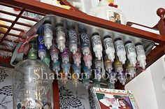 "Awesome way to ""store"" bottles of Stickles glitter glue...love this idea!"