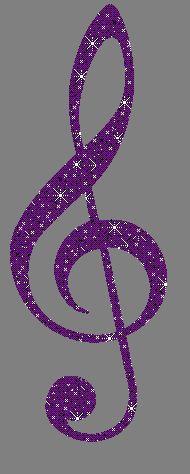 Purple Glitter Graphics | Glitter Graphic Comment: G Clef Purple Glitter Graphic
