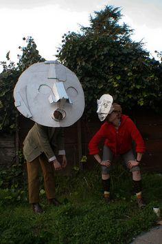 Cardboard Masks by Dax Tran-Caffee, via Flickr