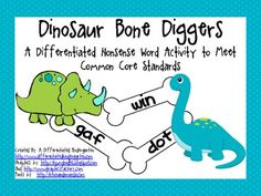 FREE Diggin' Up Nonsense Bones-2 Differentiated Activities for