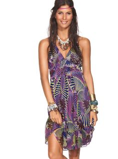 Electric Indigo Dress by Ondademar Swimwear